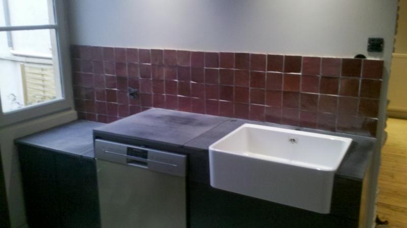 Zellige marocain salle de bain avec des for Cuisine zellige